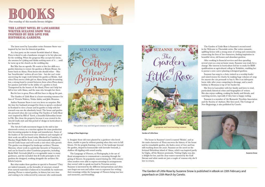 Lancashire Mag Suzanne Snow Author - Feb 2021